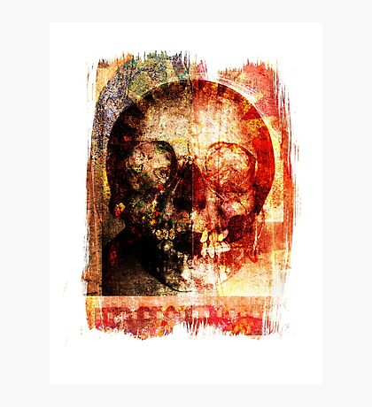 floral skully Photographic Print