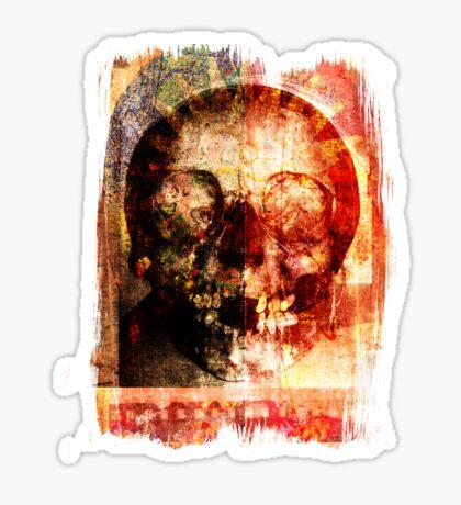 floral skully Sticker