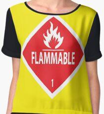 Flammable Women's Chiffon Top