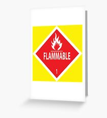 Flammable Greeting Card