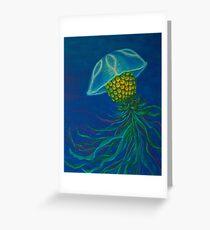 Pineapple Jellyfish Greeting Card