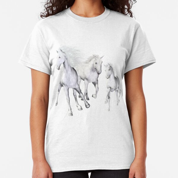 White Horses On The Beach Classic T-Shirt