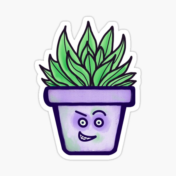"Cute Potted Plant - ""Randy Randy RANDY!"" Glossy Sticker"