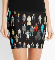 Bowie Scattered Fashion on Black Mini Skirt