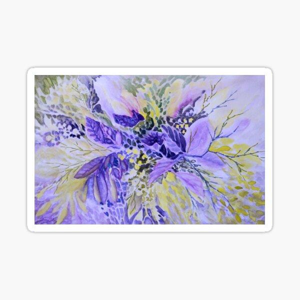 Floral in Mauve Sticker