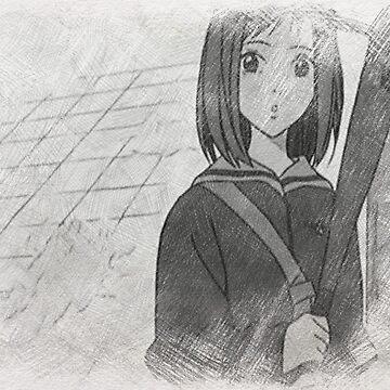 FLCL Mamimi Pencil by Sci-mpli