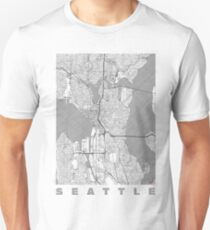 Seattle Map Line Unisex T-Shirt