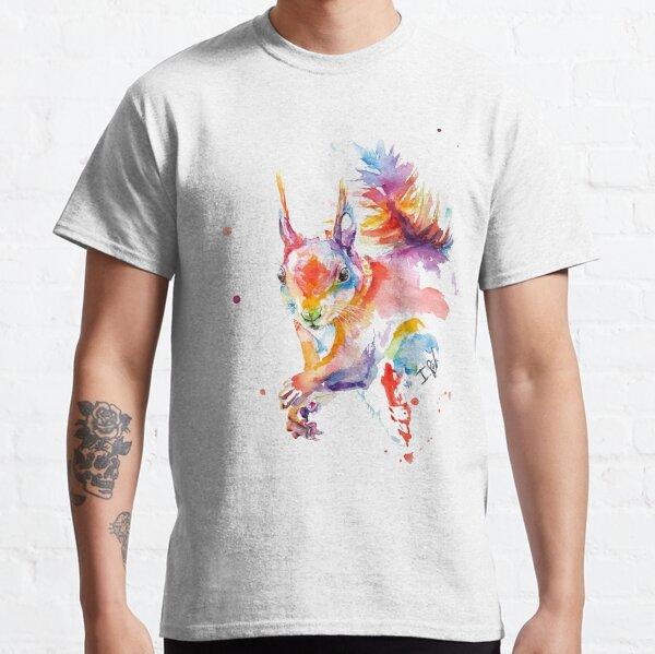 Buntes Aquarell Eichhörnchen Classic T-Shirt