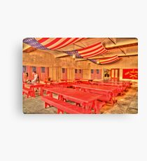 Dining Hall and Photographer Canvas Print