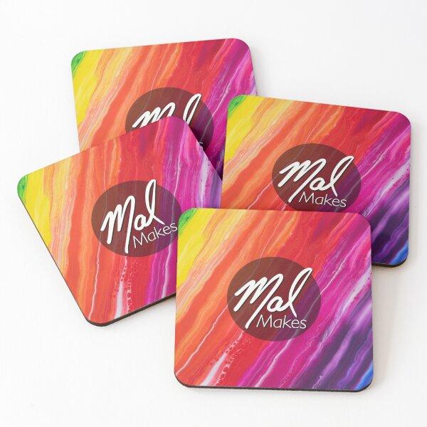 MalMakes Logo Coasters (Set of 4)