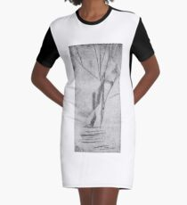 Abstract Print 2 Graphic T-Shirt Dress