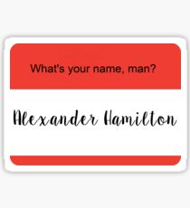 What's Your Name, Man? Sticker