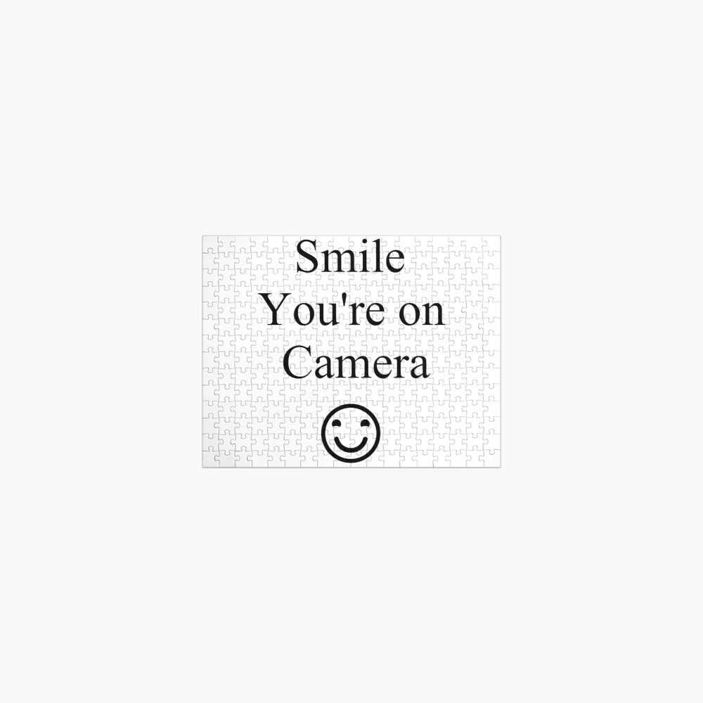 Smile You're on Camera Sign Jigsaw Puzzle