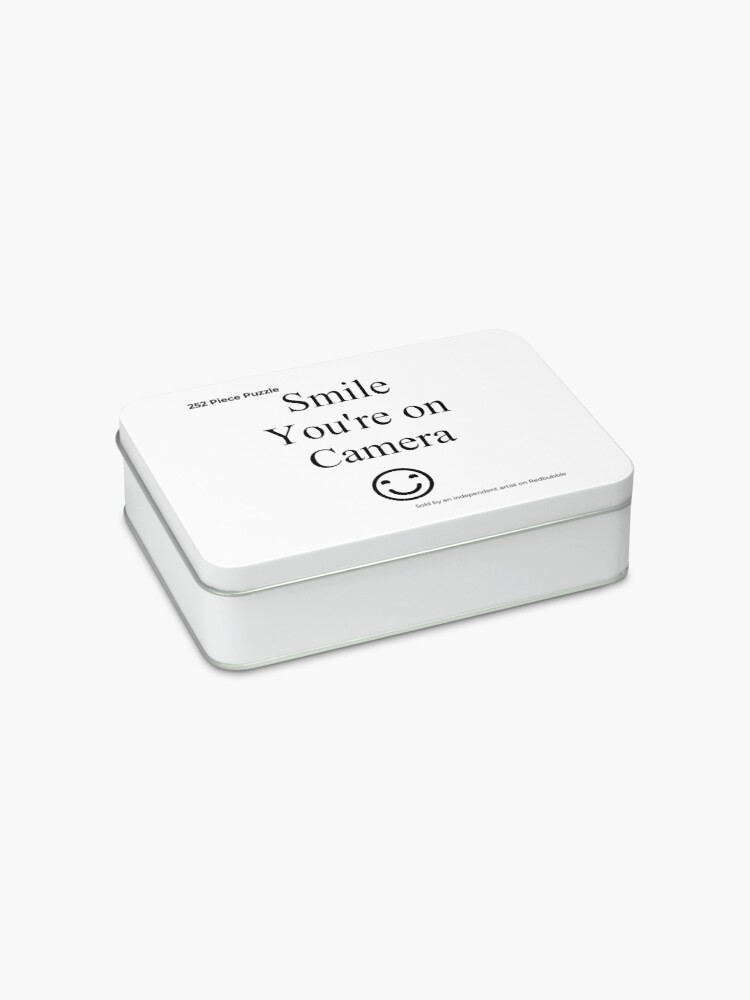 Alternate view of Smile You're on Camera Sign Jigsaw Puzzle
