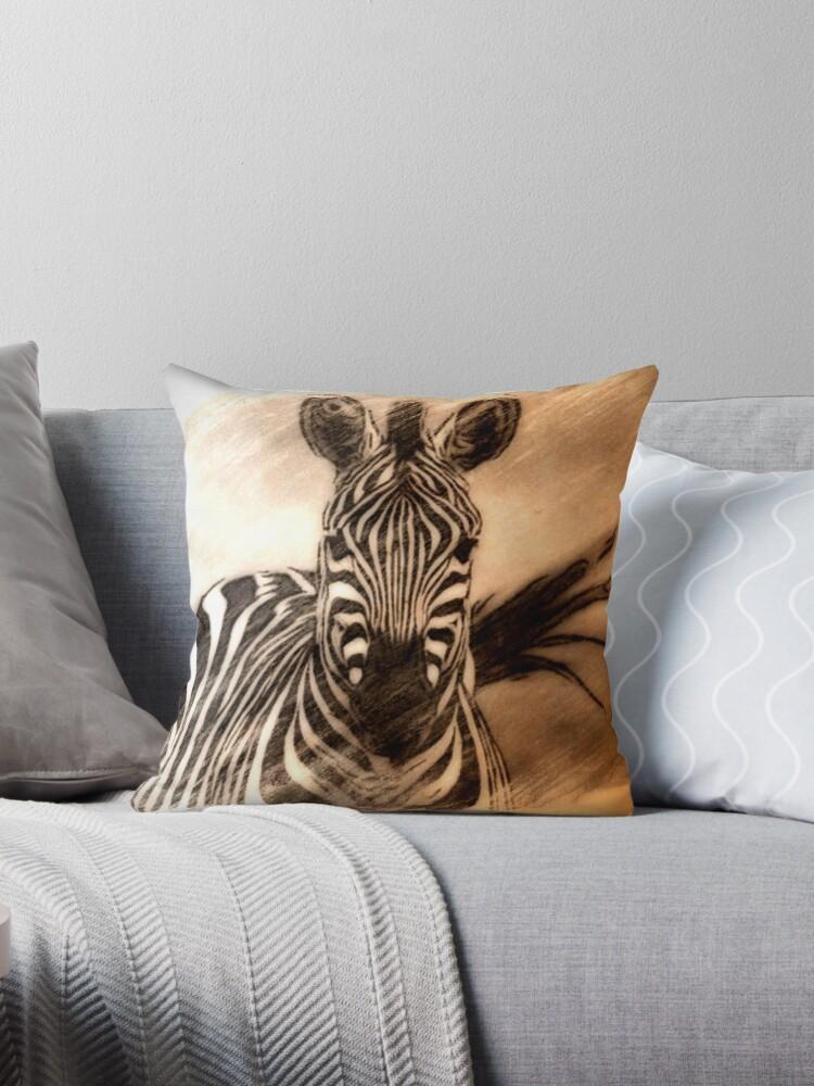 Zebra Throw Pillow von fantasytripp