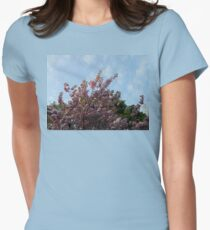 Pink Tree Blossoms against Blue Sky T-Shirt