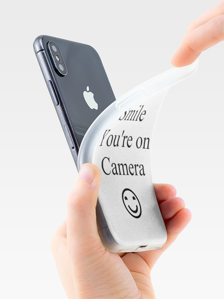 Alternate view of Smile You're on Camera Sign iPhone Case & Cover