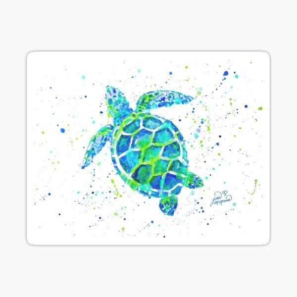 Sea Turtle by Jan Marvin Sticker