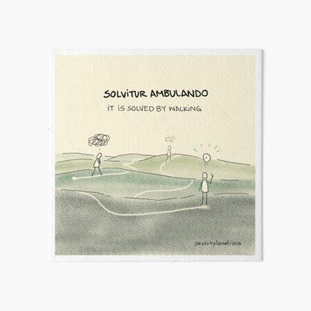 Solvitur Ambulando - It is solved by walking Art Board Print