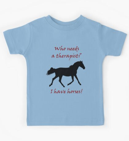 Therapy & Horse T-Shirt & Hoodies Kids Clothes