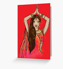 Bollywood Boogie Greeting Card