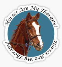 Horses Are My Therapy! T-Shirts & Hoodies Sticker