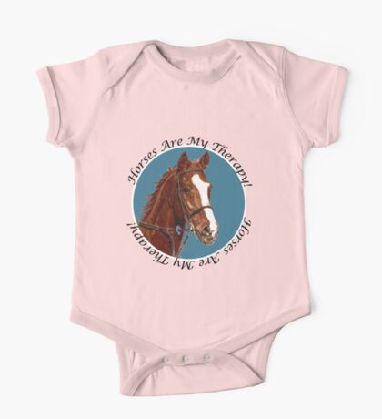 Horses Are My Therapy! T-Shirts & Hoodies Kids Clothes