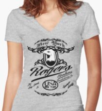 eagle usa by rogers bros Women's Fitted V-Neck T-Shirt