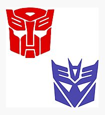 Transformers checkered insignia Photographic Print