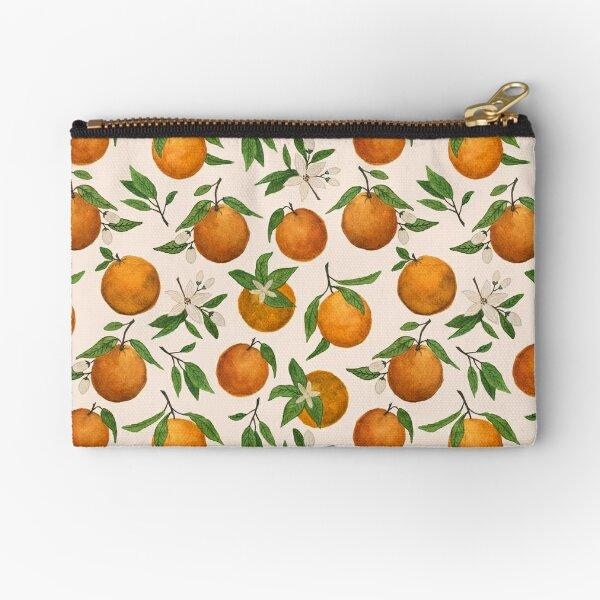Orange Blossom Pattern Zipper Pouch