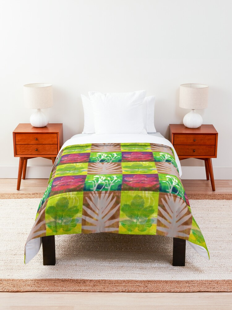 Alternate view of Colorful Nature  Comforter