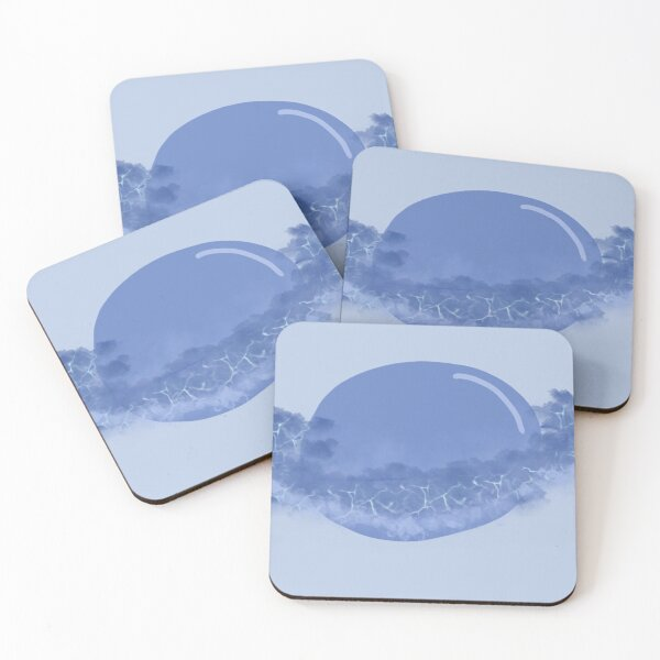 Blue Galaxy planet Coasters (Set of 4)