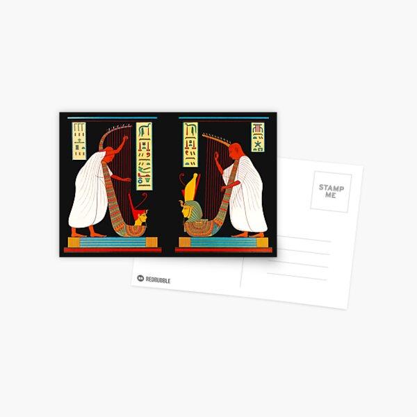 Bards of Ramses III Egyptian musicians vintage illustration Postcard