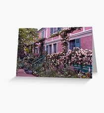 Roses, Claude Monet's Home, Giverny, France. Greeting Card