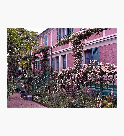 Roses, Claude Monet's Home, Giverny, France. Photographic Print