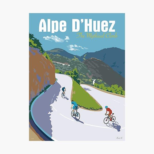 ALPE D'HUEZ Der mythische Aufstieg TOUR DE FRANCE Fotodruck