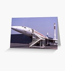 Concorde grounded. France.  Greeting Card