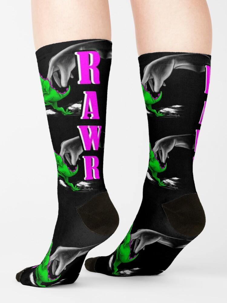 Alternate view of RAWR Dinosaur Sock Art Socks