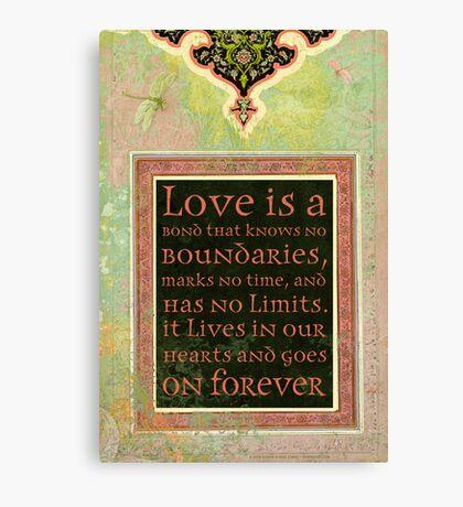 Love is a Bond... Canvas Print