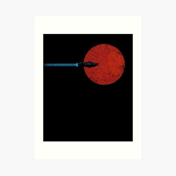 Flight over Mars Art Print
