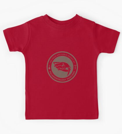 The Society of Palaeontology Fanciers (Brown on White) Kids Clothes