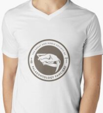 The Society of Palaeontology Fanciers (Brown on White) Men's V-Neck T-Shirt