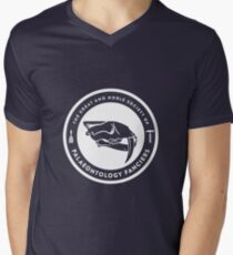 The Society of Palaeontology Fanciers (White on Dark) Mens V-Neck T-Shirt
