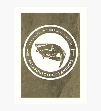 The Society of Palaeontology Fanciers Print Art Print
