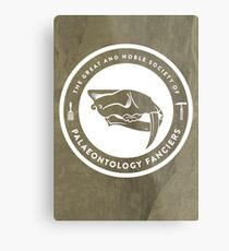 The Society of Palaeontology Fanciers Print Metal Print