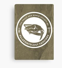 The Society of Palaeontology Fanciers Print Canvas Print
