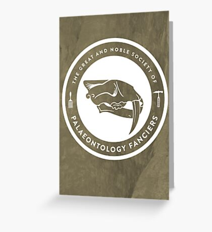 The Society of Palaeontology Fanciers Print Greeting Card