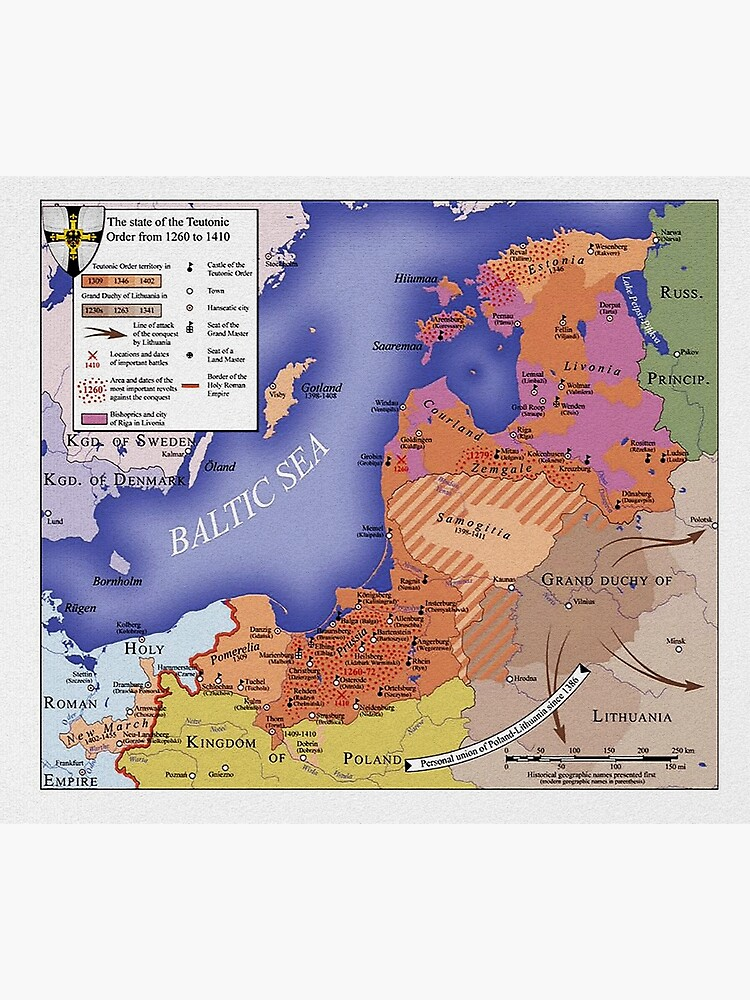 Map of Monastic State of the Teutonic Order, 1410 by edsimoneit