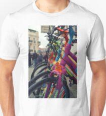 colourful bicycles in Buyukada Istanbul Unisex T-Shirt