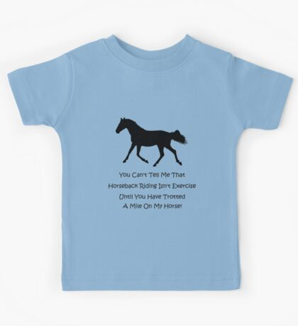 Horse & Exercise T-Shirts and Hoodies Kids Clothes